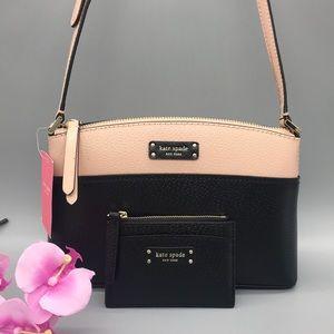 Kate Spade Jeanne Leather Crossbod Bag&Card holder